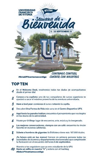 top 10 semana bienvenida Semana de Bienvenida Estudiar en Universidad Privada Madrid