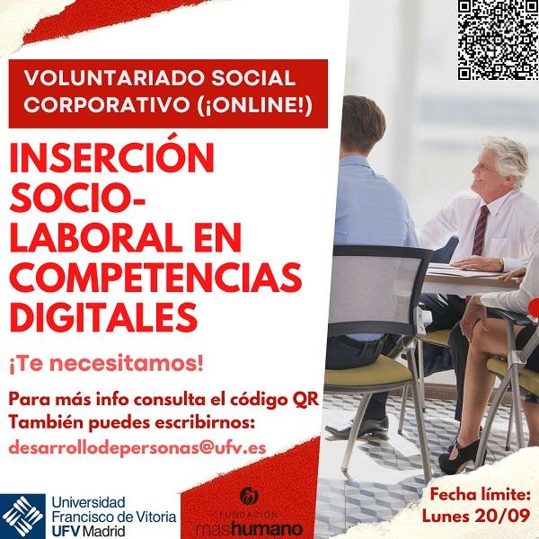 CARTEL edited Nuevo programa de voluntariado corporativo digital online Estudiar en Universidad Privada Madrid