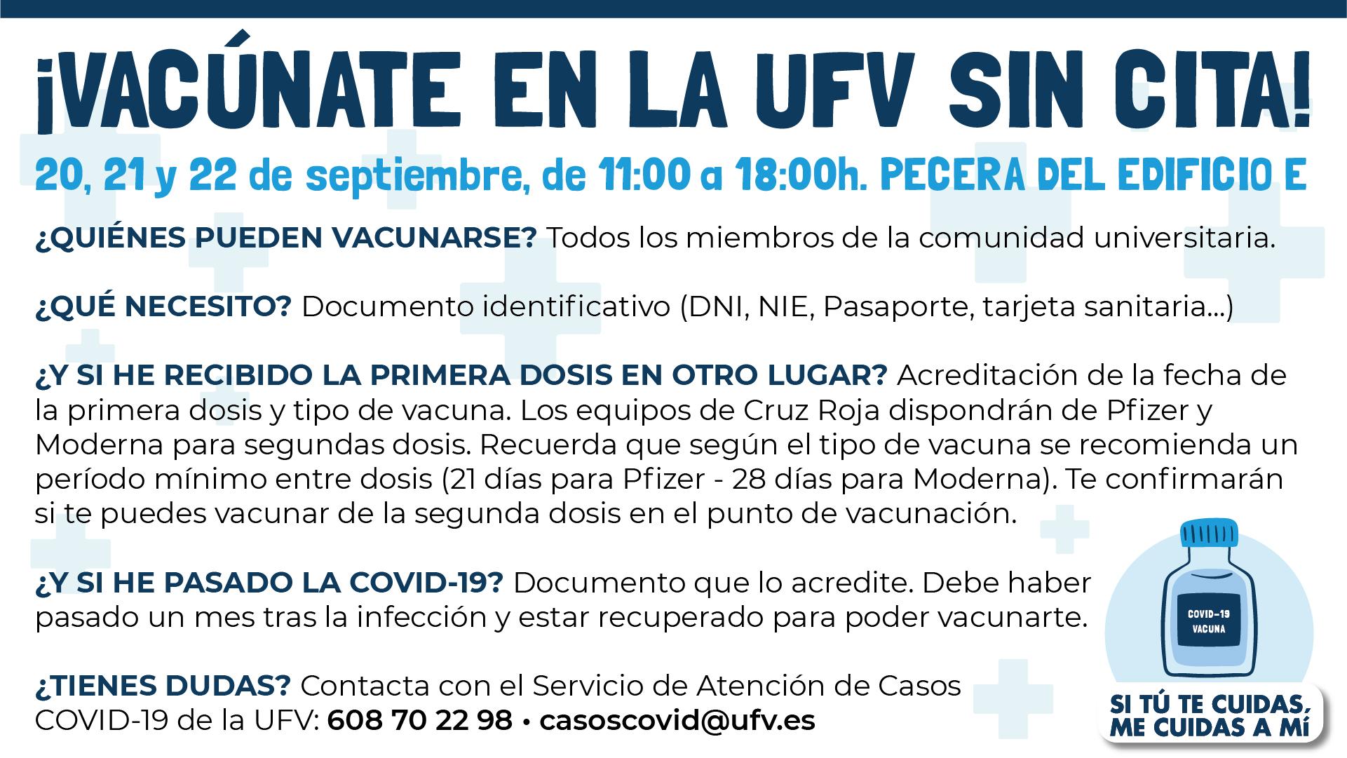 covid ufv La UFV se suma a la campaña de vacunación COVID 19 en los campus universitarios madrileños Estudiar en Universidad Privada Madrid