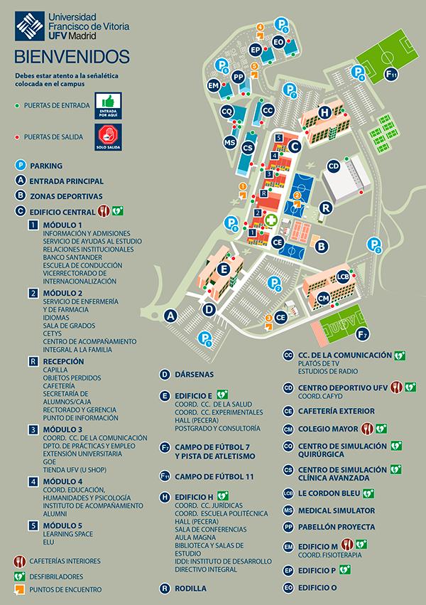 mapa campus UFV  Mapa del Campus Estudiar en Universidad Privada Madrid