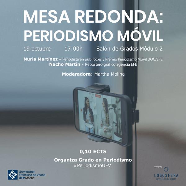 AAFF Periodismo móvil 1080x1080 1 La UFV organiza una mesa redonda sobre el Periodismo móvil Estudiar en Universidad Privada Madrid