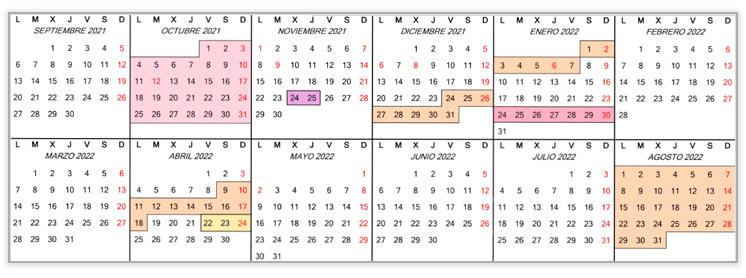 calendario tide ufv p COMPETICIÓN Estudiar en Universidad Privada Madrid